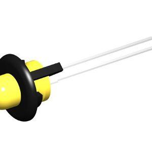 GPL 60 Pression led holder black colour per led Ø5mm