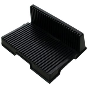ESD L-shaped PCB holder with 20 slots
