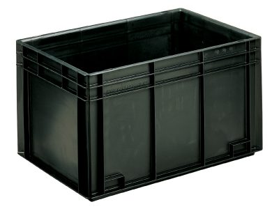 ESD Conductive Container Newbox 70 (600x400 H343 mm, Black)