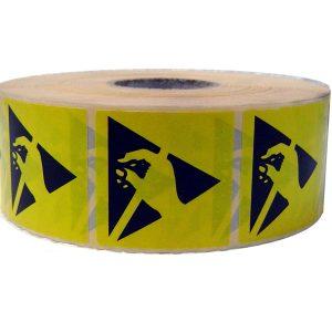 Etichetta adesiva con logo ESD 50x50mm