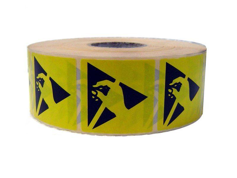Etichette adesive con simbolo ESD 50x50mm (2100pz)