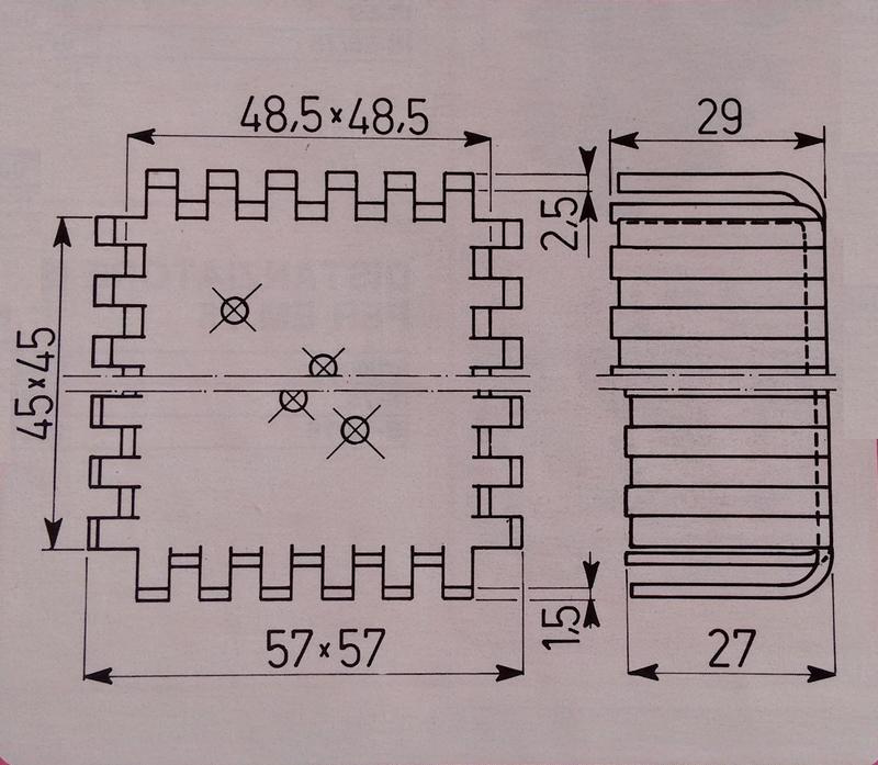 EM3-42 B0 Dissipatore, dimensioni