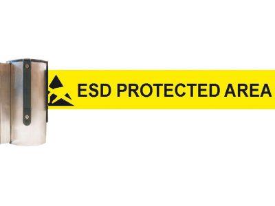 Nastro separatore per aree EPA con fissaggio a muro