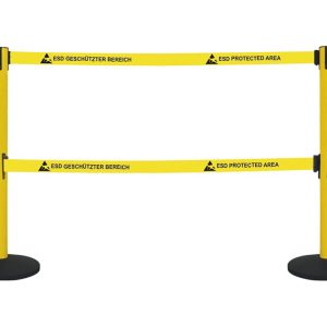 Retractable Barrier with 2 belts