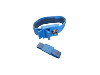 Replacement light blue wristband for ESD wriststraps