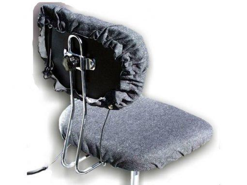 Kit coprisedia ESD per sedie con cavi per messa a terra, Grigio