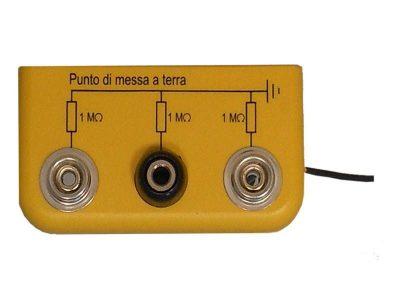 Scatola di messa a terra (2 bottoni, 1 banana)