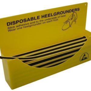 Dispenser box for disposable shoe straps