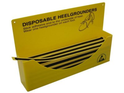 Dispenser box for disposable shoe straps