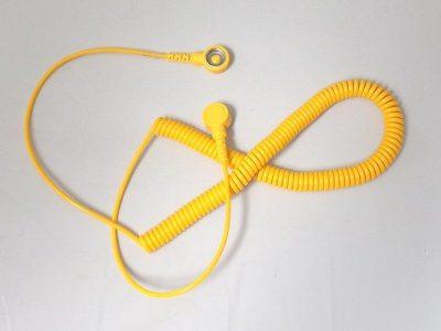 Cavo di ricambio bottone/banana per bracciale ESD