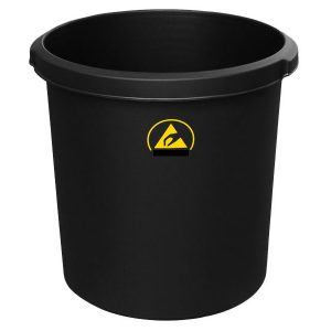 ESD Black waste bin
