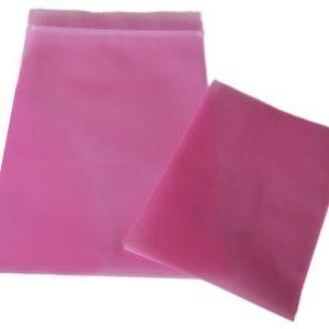 ESD Zip cloruse pink bag in PE (100pz)