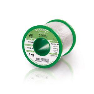 Solder wire Stannol LF Sn99Cu1 alloy KR400 Ø from 0.5 to 1.5 mm