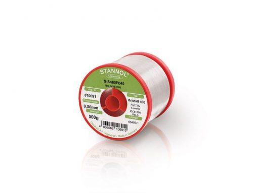 Solder wire Stannol Sn60Pb40 alloy KR400 Ø 0.5 mm