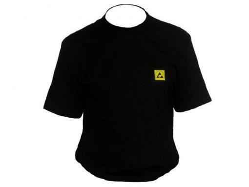T-Shirt antistatica ESD nera