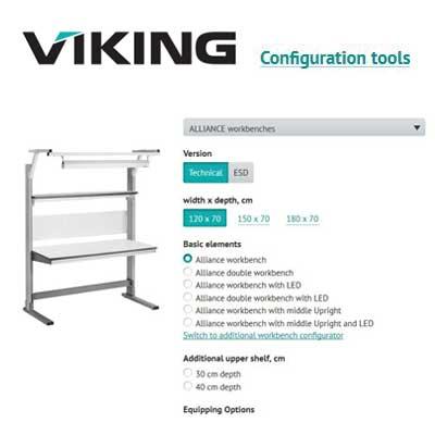 Configuratore banchi da lavoro viking elmi for Configuratore arredamento