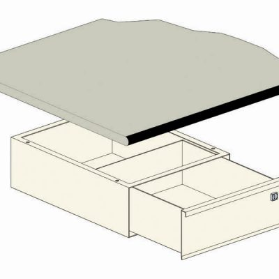 Drawer set for HD-plus beige