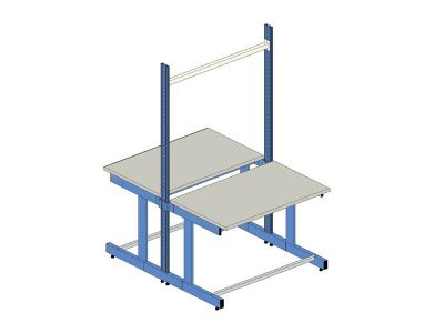 El.Mi HD-plus back to back ESD Workbench 160x85cm