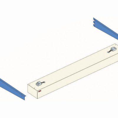 Lighting set 2x30W 160cm blue