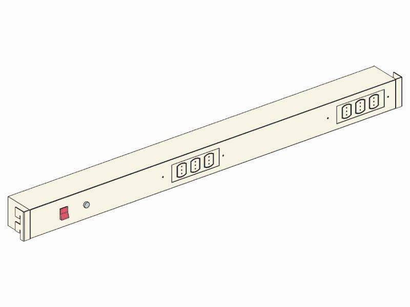One-side socket bar - Beige colour