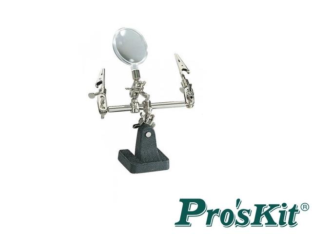 Pro'sKit 608-391A - Terza mano con lente di ingrandimento 2.5x (6di)