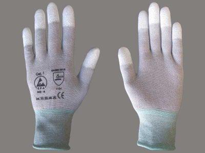 Guanti antistatici ESD in maglina con dita antiscivolo (XS/XXL)