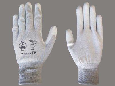 Guanti antistatici ESD in maglina con dita e palmo antiscivolo (XS/XXL)