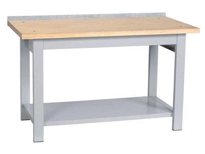 Tavolo da lavoro per officina con piano in legno (larghezza: 150cm)