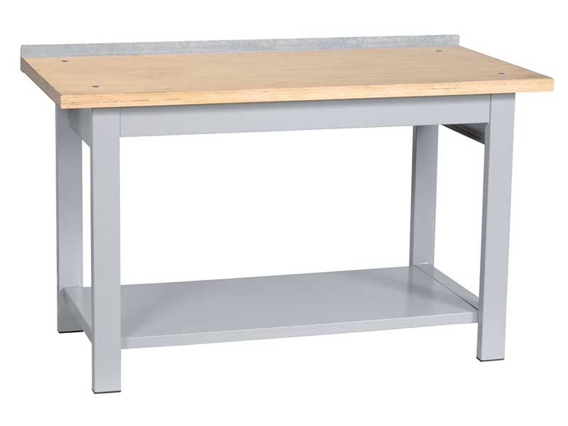 Tavolo da lavoro per officina con piano in legno larghezza 100 250 cm - Tavolo da lavoro in legno ...