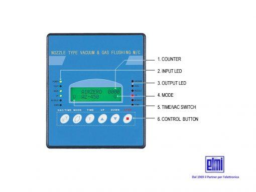 Dettaglio pannello di controllo termosaldatrice EM