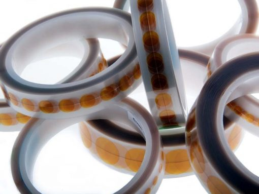 Bollini adesivi in Kapton® (diametro 6/20mm, 1000pz)