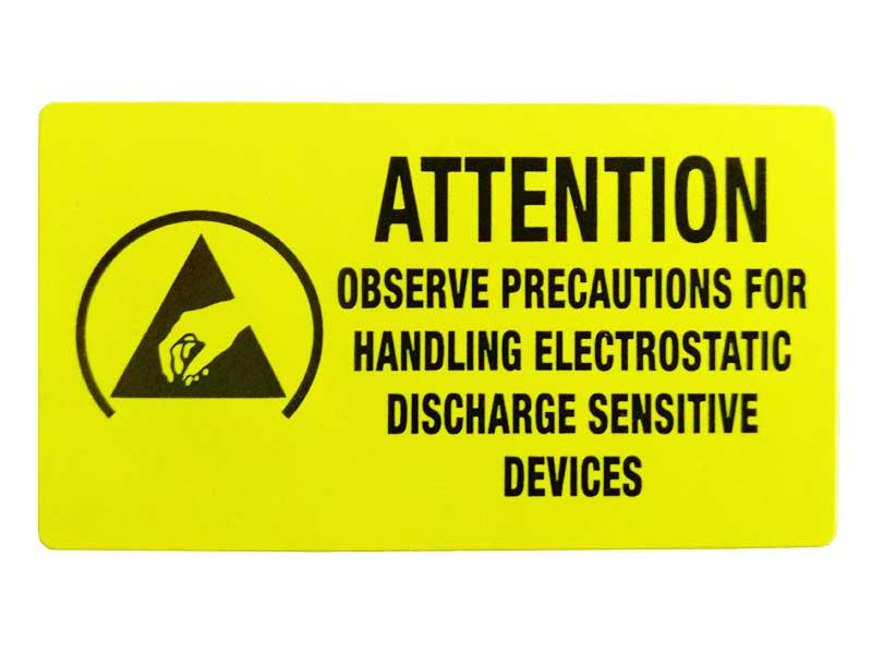 Etichette adesive ATTENTION ESD
