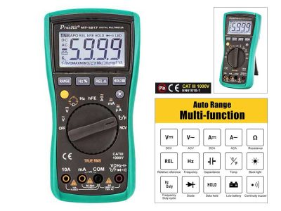 Pro'sKit MT-1217 - Multimetro digitale Display 3 5/6 digits AC True RMS