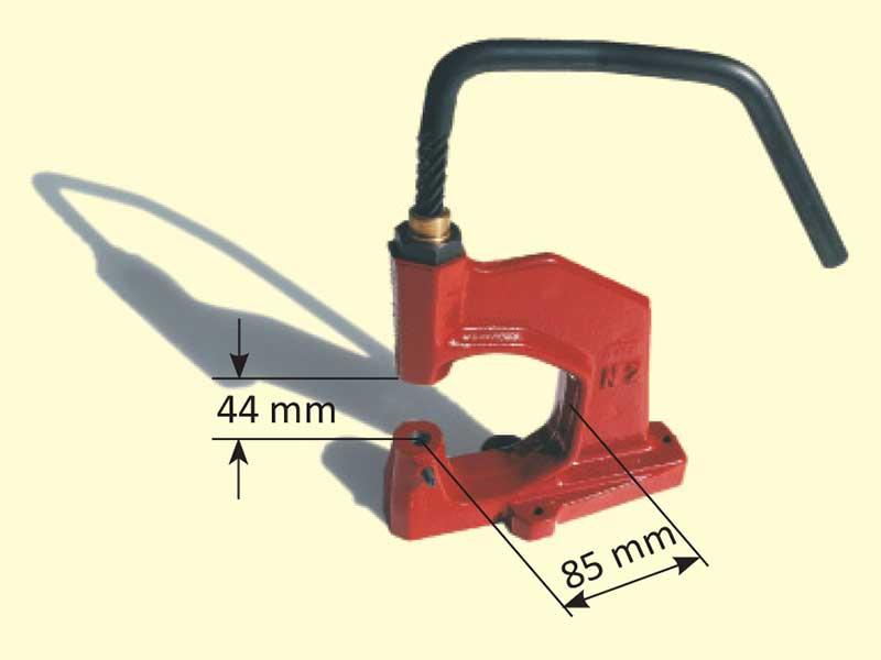 Torchietto per ribattitura bottoni automatici a pressione