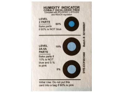 Indicatore di umidità RH 5, 10, 60%