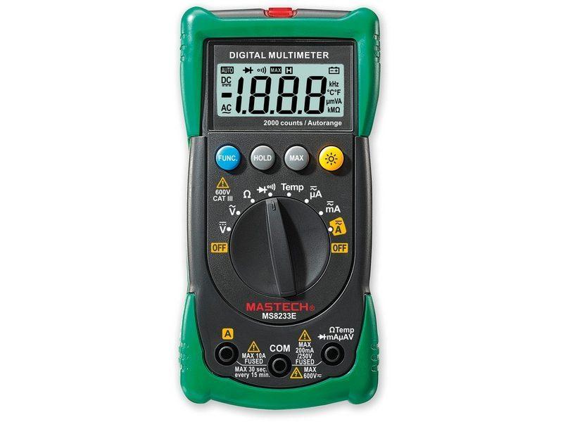 Multimetro Mastech MS8233E