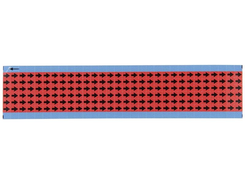 Etichette con frecce rosso