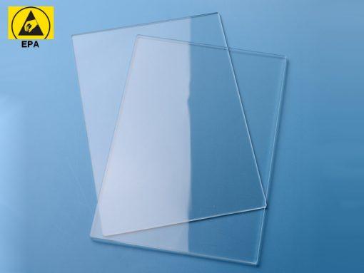 Lastra trasparente antistatica ESD permanente (1x2m, sp.10mm)