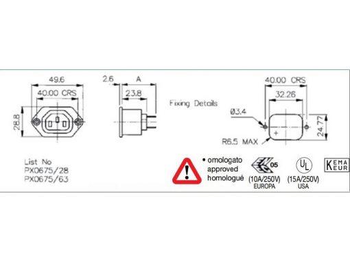 Presa elettrica da pannello IEC