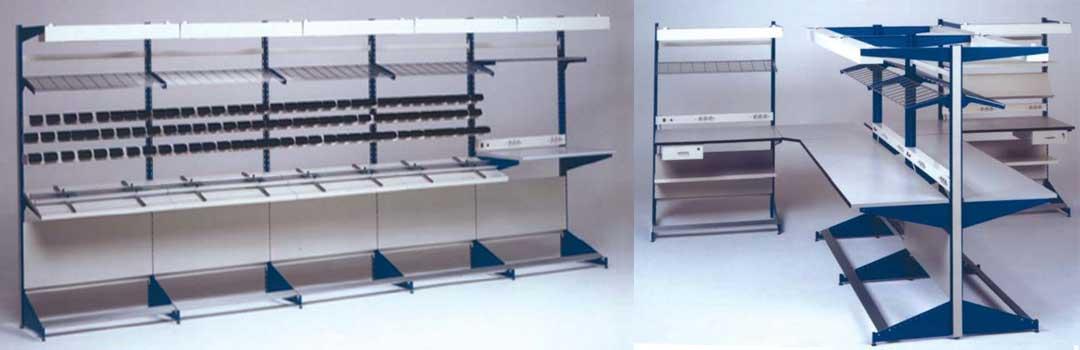 Banchi da lavoro modulari per elettronica