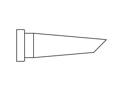 LT BB 45 Punta saldante, taglio sbieco 45°, Ø 2,4 mm