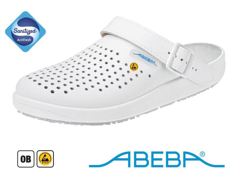 5300 Abeba - Zoccoli professionali antistatici ESD Bianco Pelle