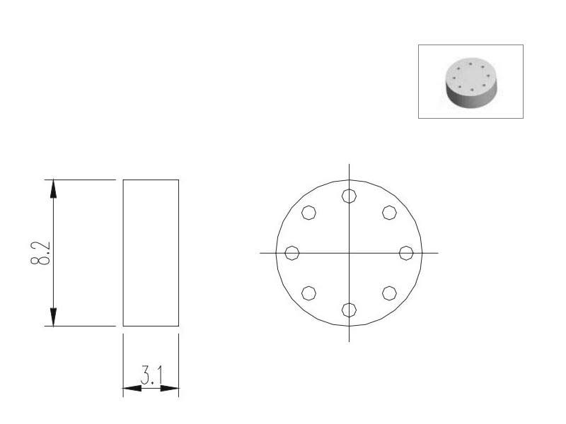 TO5-8TFE Distanziatore per TO5 (8 pin)