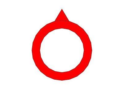 Indice rosso per manopole da 10mm