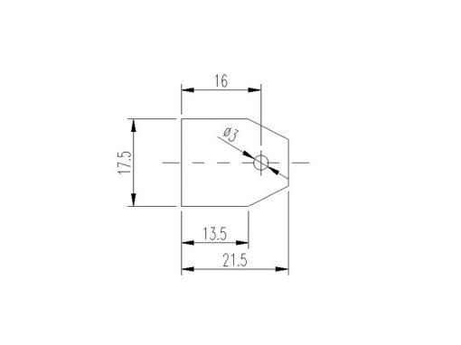 Dimensioni isolatore plastico LC4-P