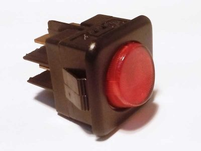 Interruttore bipolare luminoso Rosso