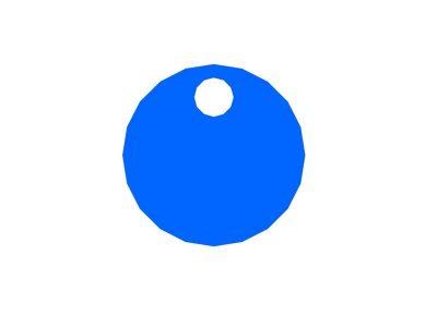 Cappuccio Blu bombato lucido per manopole 36mm