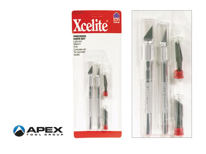 XNS100 Set 2 coltellini di precsione Weller Xcelite con 10 lame
