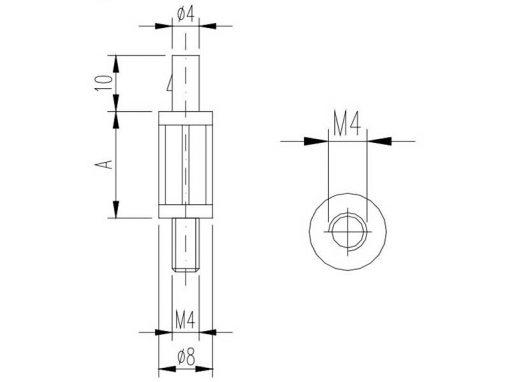 Distanziali in nylon 6.6 per circuiti stampati serie NY PM (H10-35mm)