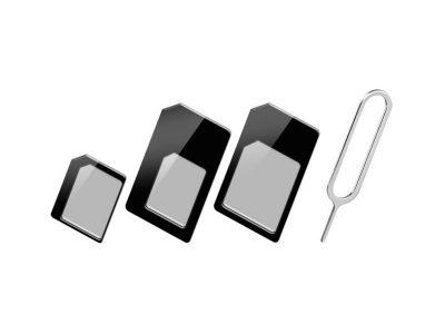 Kit Adattatore SIM (nano-SIM, micro-SIM, SIM)